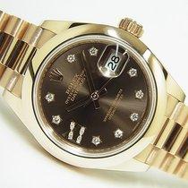 Rolex (ロレックス) レディース デイトジャスト ピンクゴールド 28mm ブラウン 文字盤無し 日本, Hyogo