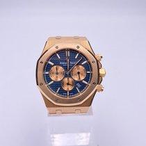 Audemars Piguet Royal Oak Chronograph Rose gold 41mm Blue No numerals Australia