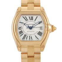 Cartier Roadster Yellow gold 44mm Silver Roman numerals United States of America, Pennsylvania, Southampton