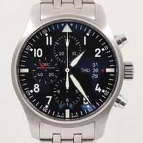 IWC Pilot Chronograph pre-owned 43mm Black Chronograph Date Steel