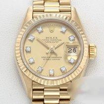 Rolex Желтое золото Автоподзавод Цвета шампань Без цифр 26mm подержанные Lady-Datejust