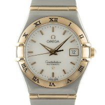 Omega Constellation Ladies Gold/Steel 27.5mm Mother of pearl