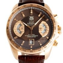 TAG Heuer Grand Carrera Red gold 43mm Brown