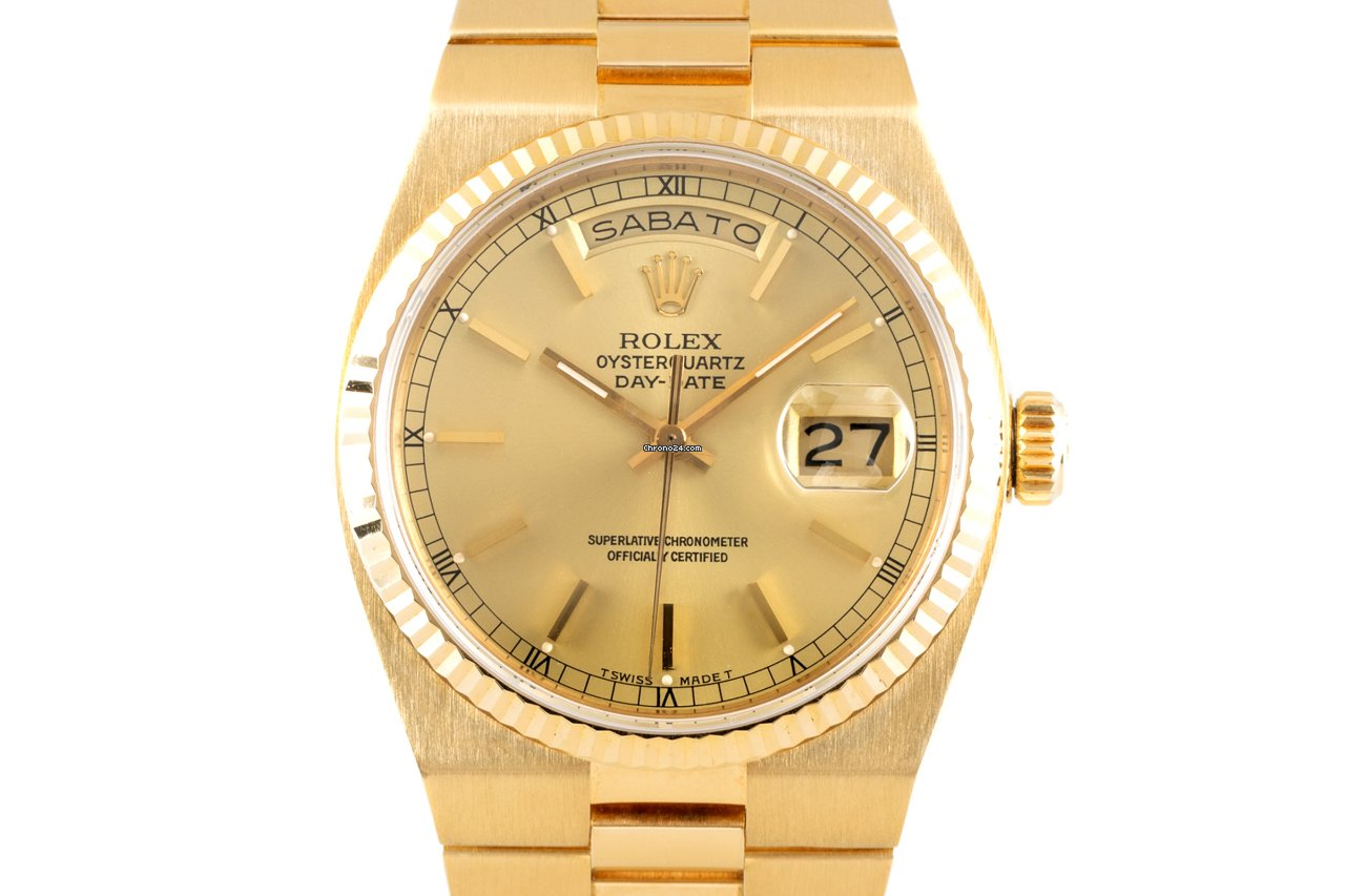 Rolex Day-Date Oysterquartz 19018N 1987 tweedehands