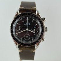 Omega Speedmaster Reduced tweedehands 39mm Zwart Chronograaf Tachymeter Leer