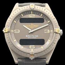Breitling Aerospace tweedehands 40mm Grijs Datum Wekker GMT Titanium