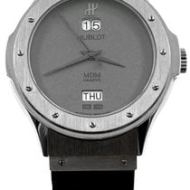 Hublot White gold Automatic Grey No numerals 39mm pre-owned