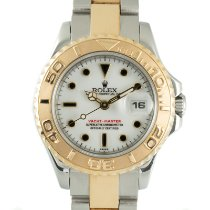 Rolex Yacht-Master Goud/Staal 29mm Wit