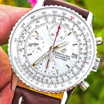 Breitling Navitimer Heritage pre-owned 41mm Silver Chronograph Date Leather