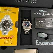 Breitling Emergency Titanio 43mm Azul Arábigos