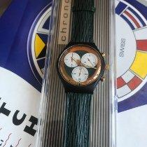Swatch Platinum Quartz Blue Roman numerals 36mm new