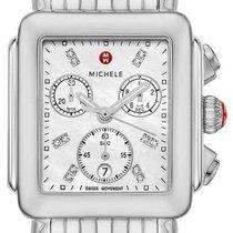Michele new Quartz Small seconds Luminous numerals Luminous hands 33mm Steel Sapphire crystal