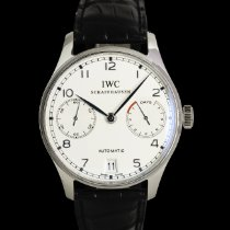 IWC Platinum Automatic Silver 42mm pre-owned Portuguese Automatic
