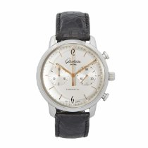 Glashütte Original Steel Automatic Silver 42mm pre-owned Sixties Chronograph