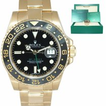 Rolex Yellow gold Automatic Green 40mm pre-owned GMT-Master II