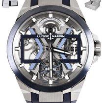 Ulysse Nardin new Automatic Skeletonized Luminous hands Chronometer Screw-Down Crown 45mm Titanium Sapphire crystal