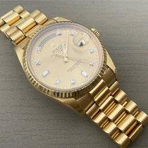 Rolex Or jaune Remontage automatique Or Sans chiffres 36mm occasion Day-Date 36