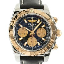 Breitling Chronomat 41 Золото/Cталь 41mm Черный