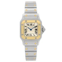 Cartier Santos Galbée Steel 24mm Champagne Roman numerals United States of America, New York, NYC