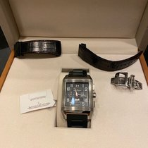 Jaeger-LeCoultre Titanium Automatic Black 35mm pre-owned Reverso Squadra World Chronograph
