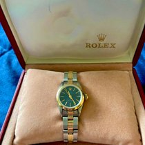 Rolex White gold Automatic Blue No numerals 25mm pre-owned Oyster Perpetual