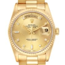 Rolex Day-Date 36 Желтое золото 36mm Цвета шампань