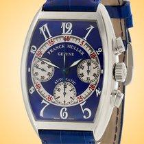 Franck Muller Cintrée Curvex Steel 49mm Blue Arabic numerals