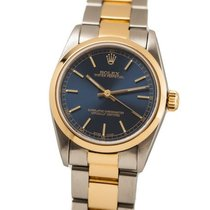Rolex Oyster Perpetual 31 Gold/Steel 30mm Blue No numerals