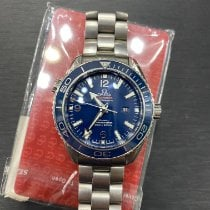 歐米茄 Seamaster Planet Ocean 鈦 37.5mm 藍色 阿拉伯數字