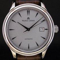 Maurice Lacroix Les Classiques Date gebraucht 40mm Silber Datum Leder