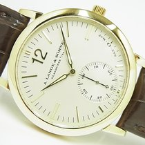 A. Lange & Söhne Yellow gold Automatic Silver Arabic numerals 37mm pre-owned Langematik