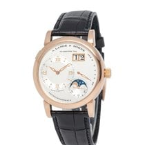 A. Lange & Söhne Lange 1 Rose gold 38.5mm Silver Roman numerals United States of America, New York, Hartsdale