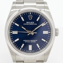 Rolex Oyster Perpetual 36 Çelik 36mm Mavi Rakamsız