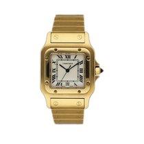 Cartier Santos Galbée Желтое золото 30mm Белый