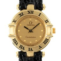 Omega Constellation Ladies pre-owned 22.5mm Gold Lizard skin