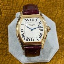 Cartier Tortue Or jaune 34mm Argent Romains