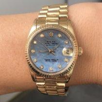 Rolex Datejust 31 Yellow gold 31mm Blue No numerals