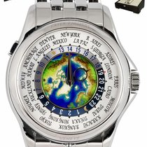 Patek Philippe World Time pre-owned 39.5mm White GMT Platinum