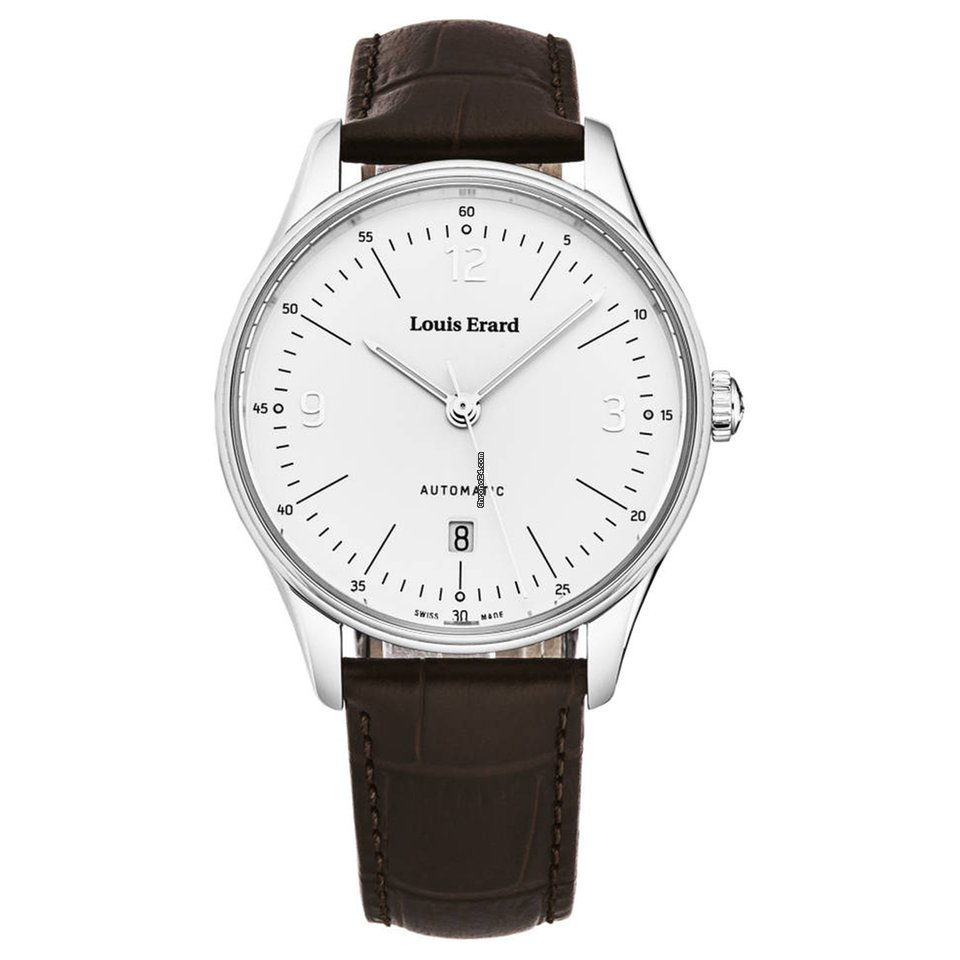 Louis Erard Watch Heritage Day Date Silver for AED4,779