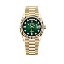 Rolex Day-Date 36 Yellow gold 36mm Green No numerals United States of America, New York, New York
