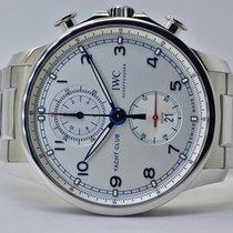 IWC Portugieser Yacht Club Chronograph Stahl 43mm Weiß Arabisch Deutschland, Iffezheim