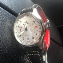IWC Big Pilot pre-owned 46mm Silver Fold clasp