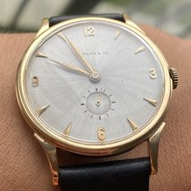 Hamilton Yellow gold Manual winding Grey Arabic numerals 35mm pre-owned