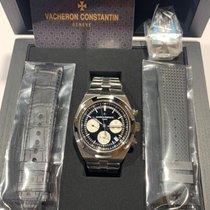 Vacheron Constantin Steel Automatic Black No numerals 42.5mm new Overseas Chronograph