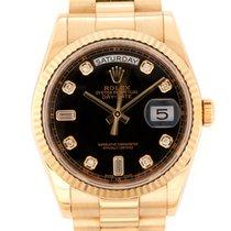 Rolex Day-Date 36 Sarı altın 36mm Siyah