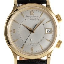 Jaeger-LeCoultre Yellow gold Automatic Silver 38.5mm pre-owned Master Memovox