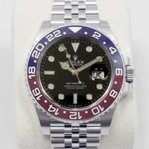 Rolex (ロレックス) GMT マスター II 新品 2021 自動巻き 正規のボックスと正規の書類付属の時計 126710BLRO
