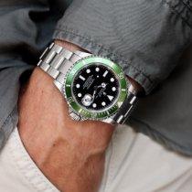 Rolex Submariner Date Stahl 40mm Schwarz Keine Ziffern Schweiz, Ascona