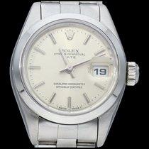 Rolex Oyster Perpetual Lady Date Acier 26mm Argent Sans chiffres
