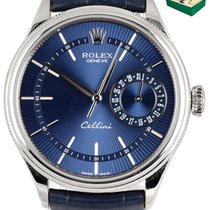Rolex Cellini pre-owned 39mm Blue Leather